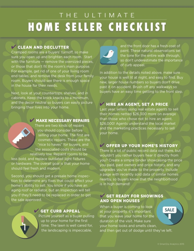Ultimate Home Seller Check list